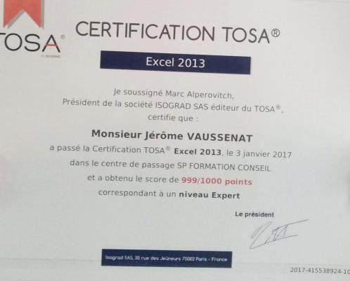 Certificat tosa formateur jv sp formation annecy