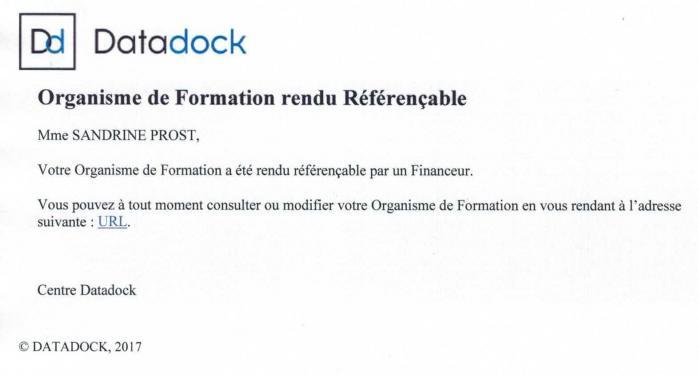 Datadock spformation