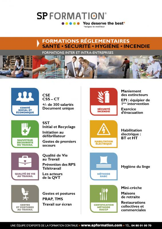 Formations reglementaires