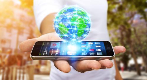 Photo smartphone globe
