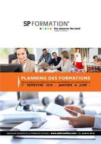 Planning 1ere page formations 1er semestre 2020 spformation