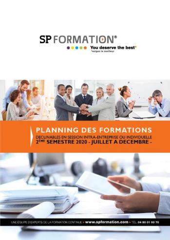 Planning formations 2eme semestre 2020 spformation2