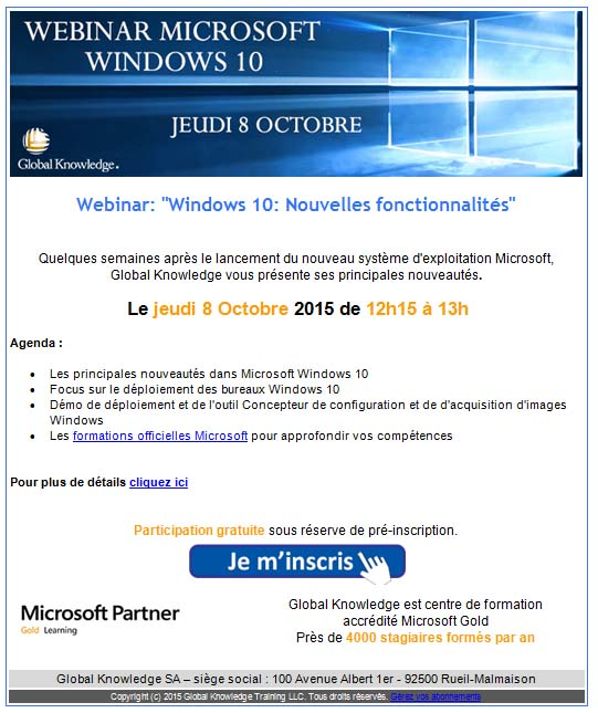 Webinar windows 10 global knowledge sp formation